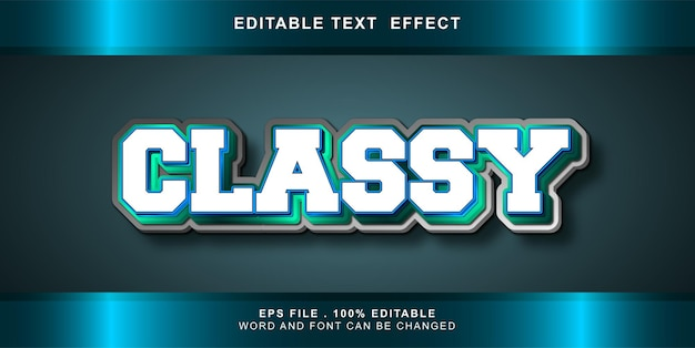Bewerkbaar teksteffect stijlvol