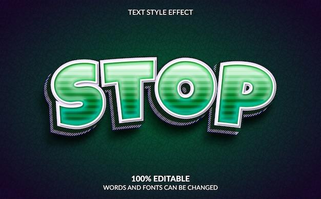 Bewerkbaar teksteffect, stop tekststijl