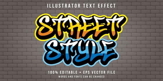 Bewerkbaar teksteffect - street wall art-stijl