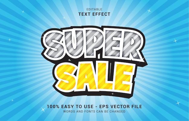 Bewerkbaar teksteffect, super sale-stijl kan worden gebruikt om titel te maken