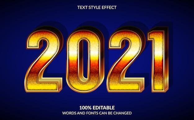 Bewerkbaar teksteffect, tekststijl gelukkig nieuwjaar