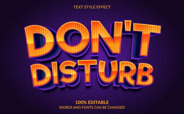 Bewerkbaar teksteffect, tekststijl niet storen