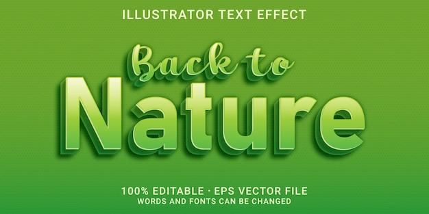Bewerkbaar teksteffect - terug naar de natuurstijl