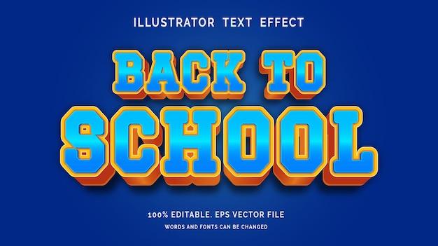 Bewerkbaar teksteffect terug naar schoolstijl