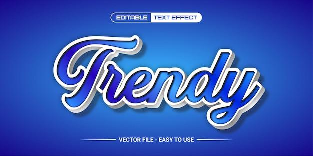 Bewerkbaar teksteffect trendy design premium