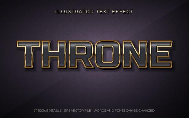 Bewerkbaar teksteffect troonstijl