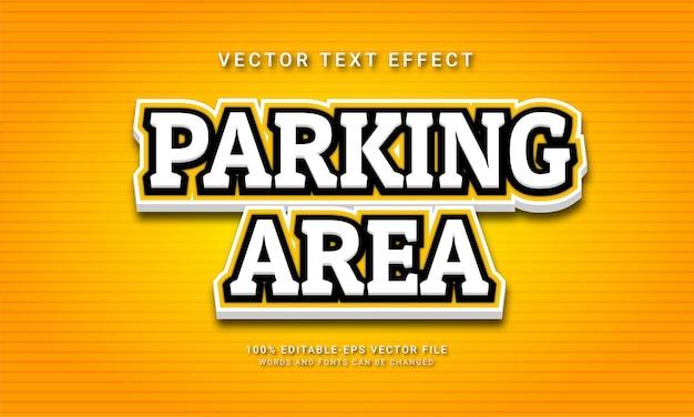 Bewerkbaar teksteffect van parkeerplaats met geel kleurenthema