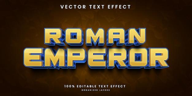 Bewerkbaar teksteffect van romeinse keizer