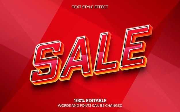 Bewerkbaar teksteffect verkoop tekststijl