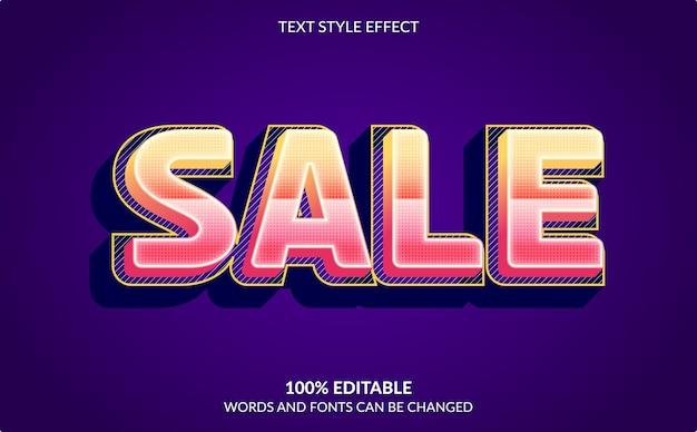 Bewerkbaar teksteffect, verkoop tekststijl