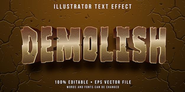 Bewerkbaar teksteffect - vernietigde tekststijl