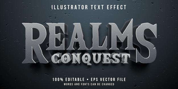 Bewerkbaar teksteffect - veroverende spelstijl