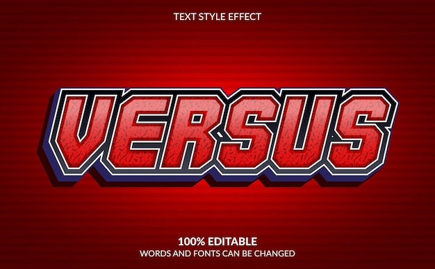 Bewerkbaar teksteffect, versus tekststijl