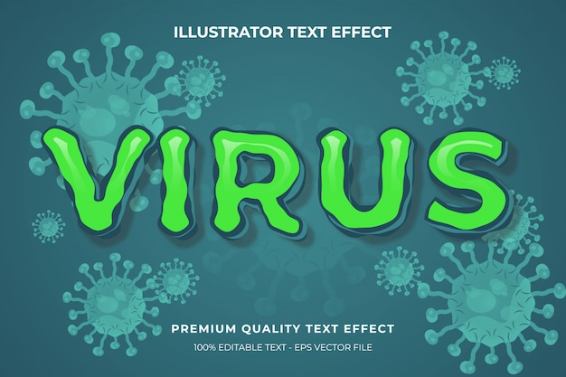 Bewerkbaar teksteffect - virustekststijl premium