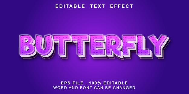 Bewerkbaar teksteffect vlinder