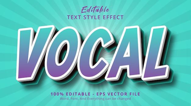 Bewerkbaar teksteffect, vocale tekst op tosca-kleurstijleffect