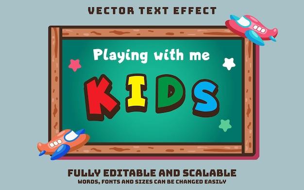 Bewerkbaar teksteffect voor kinderen met bord