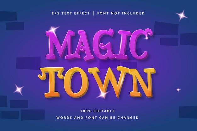 Bewerkbaar teksteffect voor magische stad