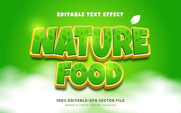 Bewerkbaar teksteffect voor natuurvoedsel