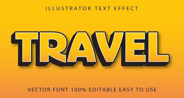 Bewerkbaar teksteffect voor reizen