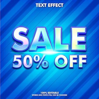Bewerkbaar teksteffect voor verkoopstickers voor bedrijven