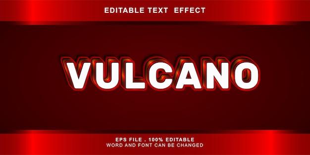 Bewerkbaar teksteffect vulcano