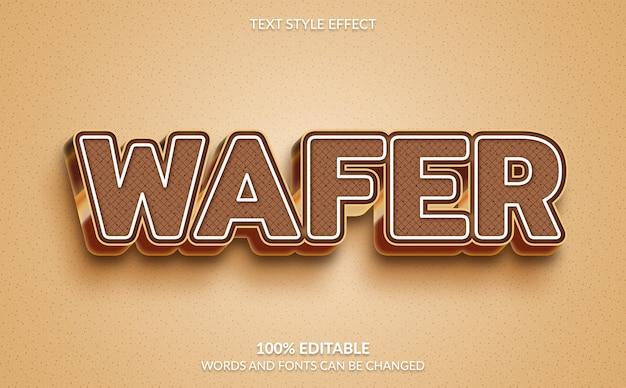 Bewerkbaar teksteffect wafer-tekststijl