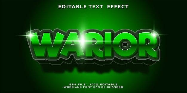 Bewerkbaar teksteffect warior
