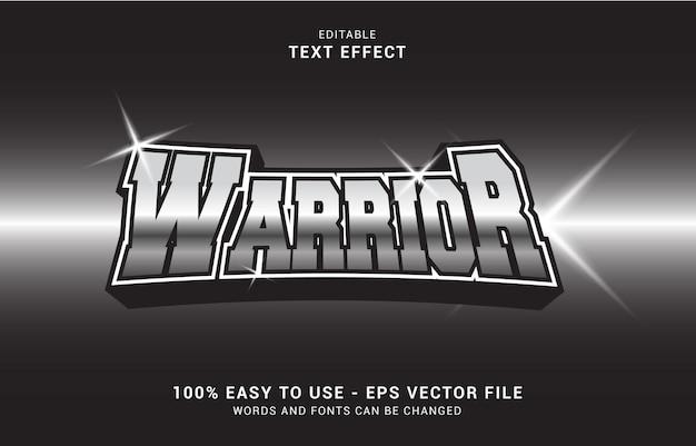 Bewerkbaar teksteffect, warriors silver-stijl kan worden gebruikt om titel te maken