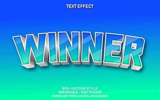 Bewerkbaar teksteffect winnaar premium