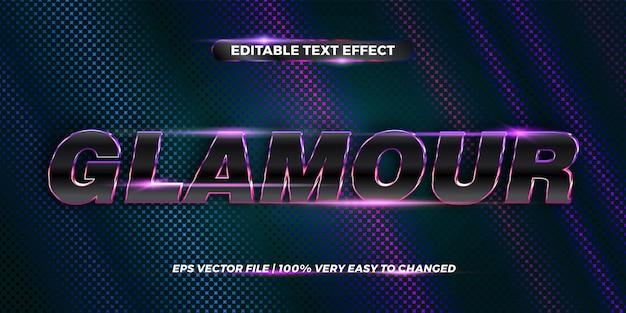 Bewerkbaar teksteffect, woord glamour