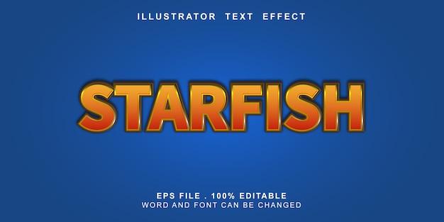 Bewerkbaar teksteffect zeester