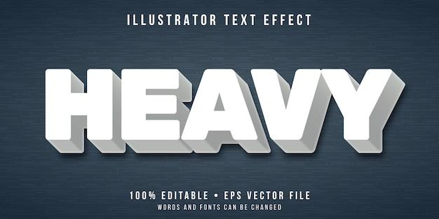 Bewerkbaar teksteffect - zware tekststijl