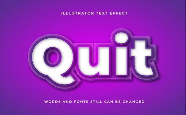 Bewerkbaar teksteffect