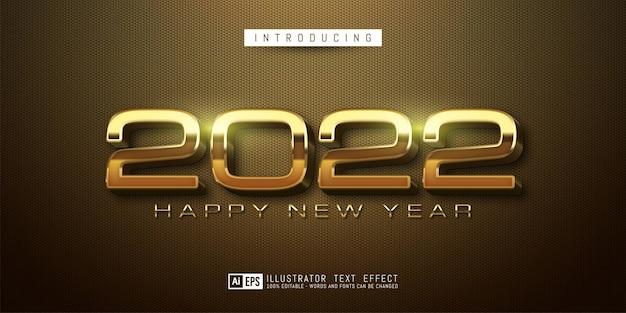Bewerkbaar tekstnummer gelukkig nieuwjaar 2022 luxe ontwerp