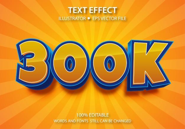 Bewerkbaar tekststijleffect 300k