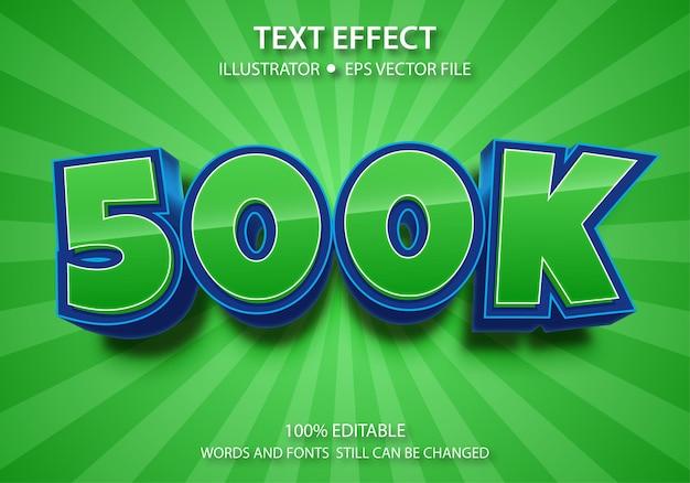 Bewerkbaar tekststijleffect 500k Premium Vector