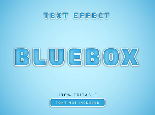 Bewerkbaar tekststijleffect blauw vak