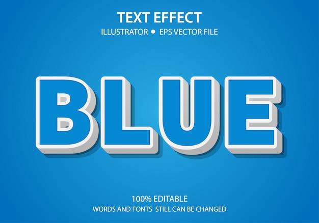 Bewerkbaar tekststijleffect blauw