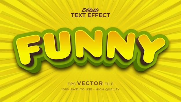 Bewerkbaar tekststijleffect - grappig tekststijlthema