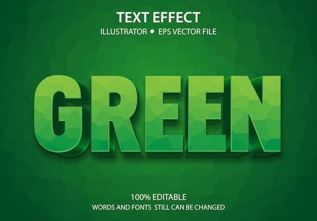 Bewerkbaar tekststijleffect groen vet premium