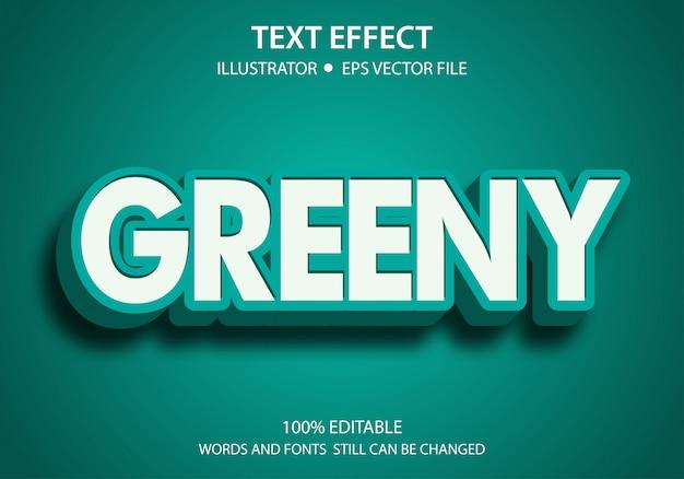 Bewerkbaar tekststijleffect groen