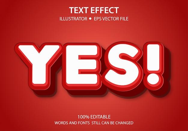 Bewerkbaar tekststijleffect ja