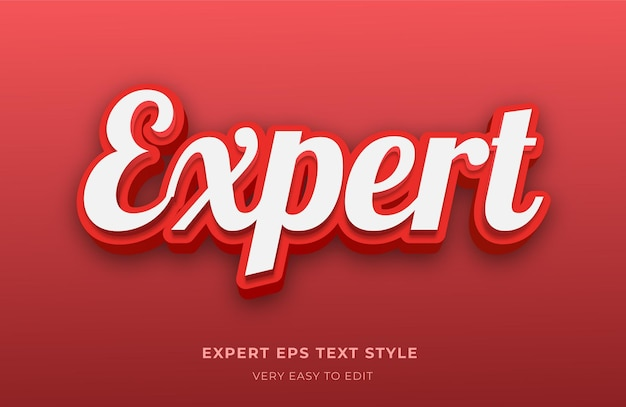 Bewerkbaar tekststijleffect met deskundige rode kleurenkalligrafie