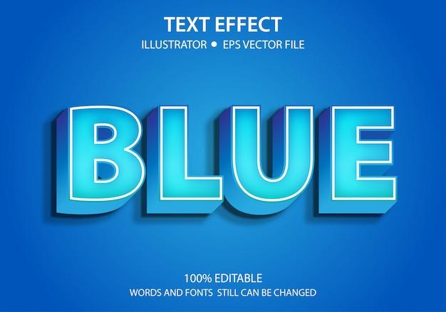 Bewerkbaar tekststijleffect modern blauw