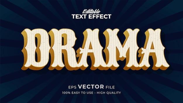 Bewerkbaar tekststijleffect - retro drama-tekststijlthema