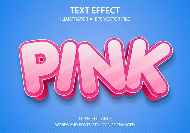 Bewerkbaar tekststijleffect roze