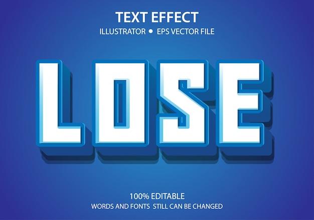 Bewerkbaar tekststijleffect verlies vector