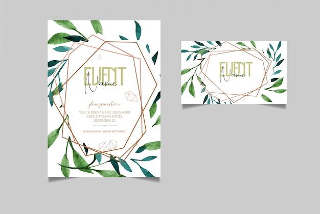 Bewerkbaar uitnodigingskaart ontwerp