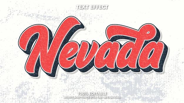 Bewerkbaar vintage retro teksteffect